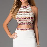 Short Two Piece Halter Dress by Dave and Johnny