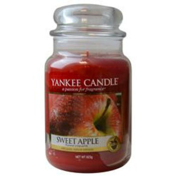 YANKEE CANDLE SWEET APPLE SCENTED LARGE JAR 22 OZ UNISEX