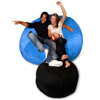 Extra-Large Micro Suede Bean Bag Chair at Brookstone—Buy Now!