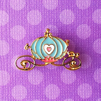 "Femme Fairy Tale & Fantasy Collection ""Cinderella Carriage"" Blue Carriage Pin"