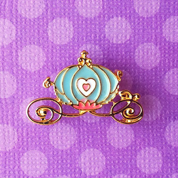 """Femme Fairy Tale & Fantasy Collection """"Cinderella Carriage"""" Blue Carriage Pin"""