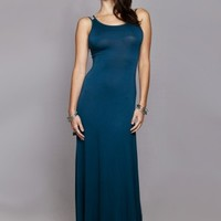 *Teal Cross Back Maxi Dress -