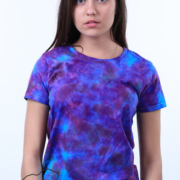Stardust Shirt Psychedelic Trippy Galaxy Tie Dye Hipster Pastel Grunge Woman's Tumblr