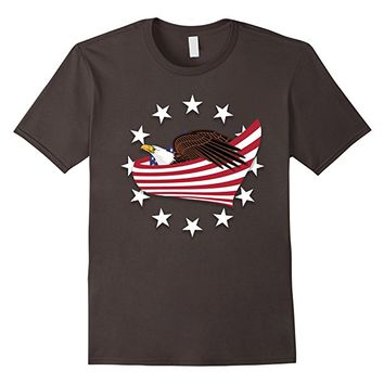 Eagle of Freedom with US flag Tee