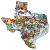 Welcome to Texas 1000pc Shaped Jigsaw Puzzle