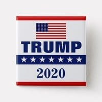 TRUMP 2020 SQUARE BUTTON