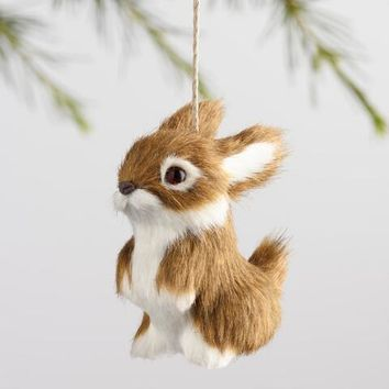 Fabric Bunny Ornaments Set of 3