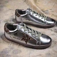 Ggdb Golden Goose Uomo Donna Silver Shoes Sneakers - Best Online Sale