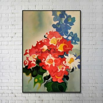 The Swirling Flowers Canvas Oil Painting