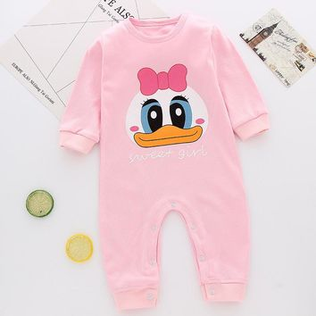 2017 Christmas deer style newborn baby boy girls winter clothes Cotton Long Sleeve Baby Rompers Soft Infant Baby Clothing Set