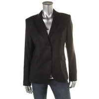 Theory Womens Wool Metallic Two-Button Blazer