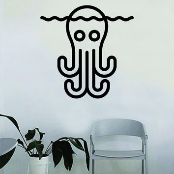 Octopus Decal Sticker Wall Vinyl Decor Art Living Room Bedroom Kids Nursery Baby Teen Animal Ocean Beach Fish