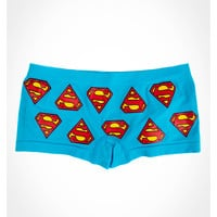 Superman Allover Blue Seamless Boyshorts