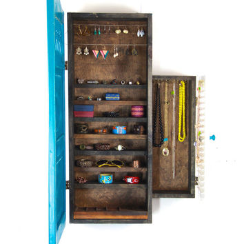 Rustic Turquoise Jewelry Storage and Organization... Handmade by TangleandFold
