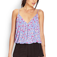 Spotted Floral Surplice Cami