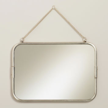 Matte Silver Hanging Mirror - World Market