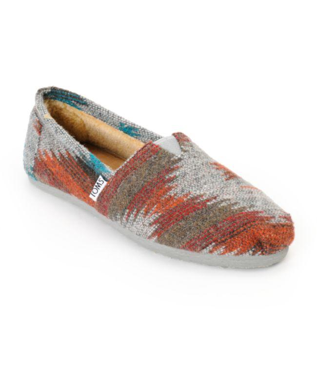 Toms Classics Grey   Red Friday Wool from Zumiez  7322391fd200