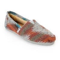 Toms Classics Grey & Red Friday Wool Women's Shoes