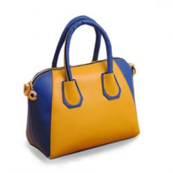 Stylish Tote and Color Block Design Women's Street Level Handbag
