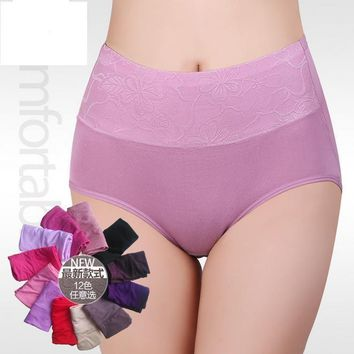 Women's Panties ZW90 Modal High Waist Breathable Briefs