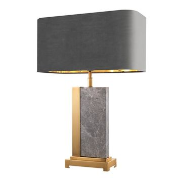 Grey Marble Table Lamp | Eichholtz Pietro
