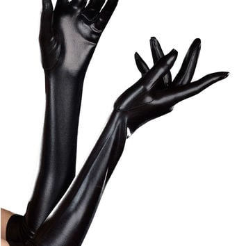 Dreamgirl Long Wet Look Dominique Glove
