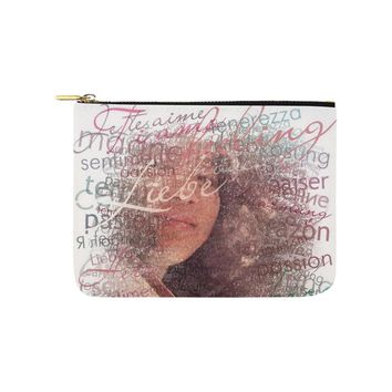 Levi Thang Half Face Vintage Letters Carry-All Pouch 8''x 6''