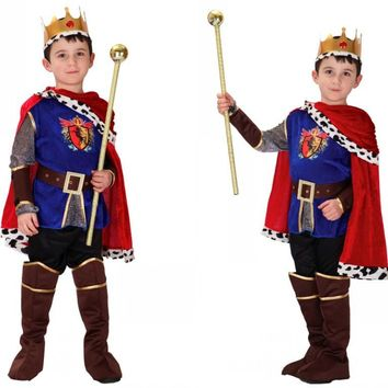 2017 High Quality Children Prince Cosplay Costume Halloween Costume Kids Fancy Cosplay Costume Suitable For 110-150 CM