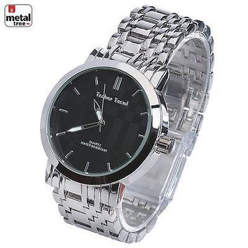 Jewelry Kay style Men's Fashion Analog Stainless Steel Back Metal Heavy Band Watch WM 1285 SBK