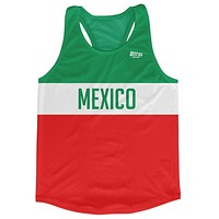 Mexico Country Finish Line Running Tank Top Racerback Track and Cross Country Singlet Jersey