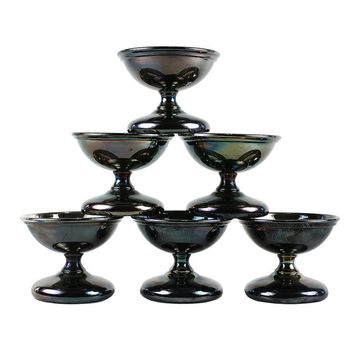 Vintage Sherbet Cups, Silver Plate Dessert Coupes, Ice Cream Bowls, Benedict Proctor