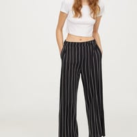 H&M Wide-cut Jersey Pants $12.99