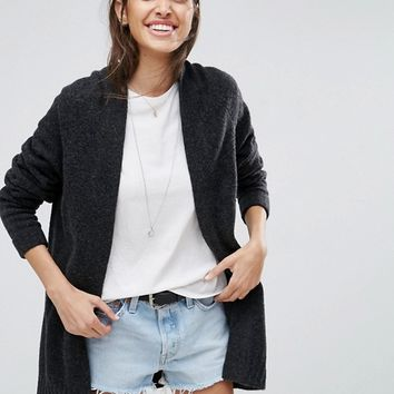 ASOS Chunky Knit Cardigan In Wool Mix at asos.com