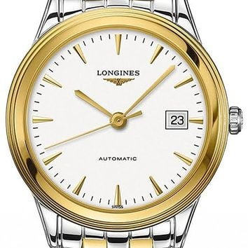 Longines Flagship Automatic White Dial Two-tone Mens Watch L48743227