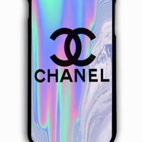 iPhone 6 Plus Case - Rubber (TPU) Cover with Coco Chanel Holographic Rubber Case Design