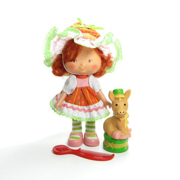 Cafe Ole Party Pleaser Doll with Burrito Donkey Vintage Strawberry Shortcake International Friend