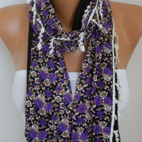 Floral Cotton Scarf Summer Shawl Graduation Gift Cowl Bridesmaid Gift Gift Ideas For Her Women Fashion Accessories