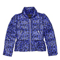 Bright Sapphire Do Peplum Puffer Jacket by Juicy Couture,