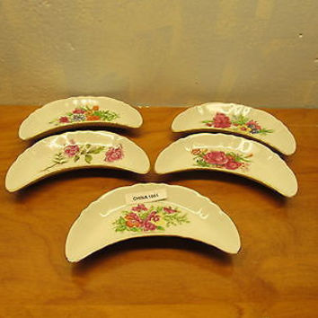 SET OF SIX VINTAGE BONE DISHES FINE CHINA