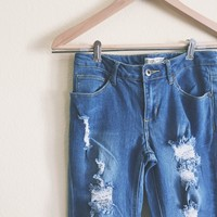 Hope Light Distressed Skinny Jeans