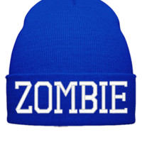 ZOMBIE EMBROIDERY HAT - Beanie Cuffed Knit Cap