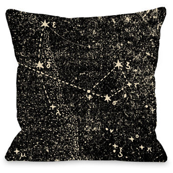 """""""Vintage Constellations"""" Indoor Throw Pillow by OneBellaCasa, 16""""x16"""""""