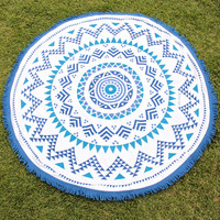 belaza round beach towel by oh lay