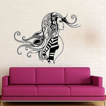 Wall Sticker Vinyl Decal Sexy Girl Music Headphones Cool Decor Unique Gift (ig1740)