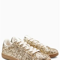 Buy Gold Glitter Sneakers from the Next UK online shop