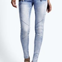 Ava High Rise Acid Wash Super Skinny Jeans