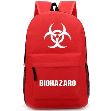 New Game Resident Evil Backpack Student School Bags Bookbag Men & Women Shoulder Travel Laptop Work Bags Casual Fashion Bag Gift