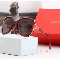 Cartier Stylish Ladies Men Cute Summer Sun Shades Eyeglasses Glasses Sunglasses Red I-A-SDYJ