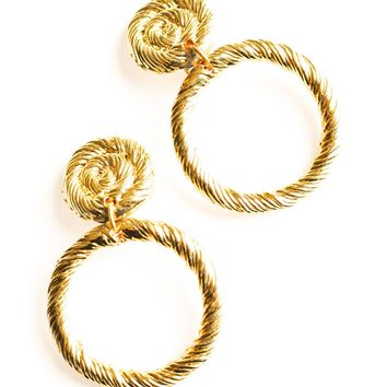 Statement Rope Clip-on Earrings