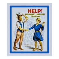 Help! The Woman's Land Army ~ Vintage WW1